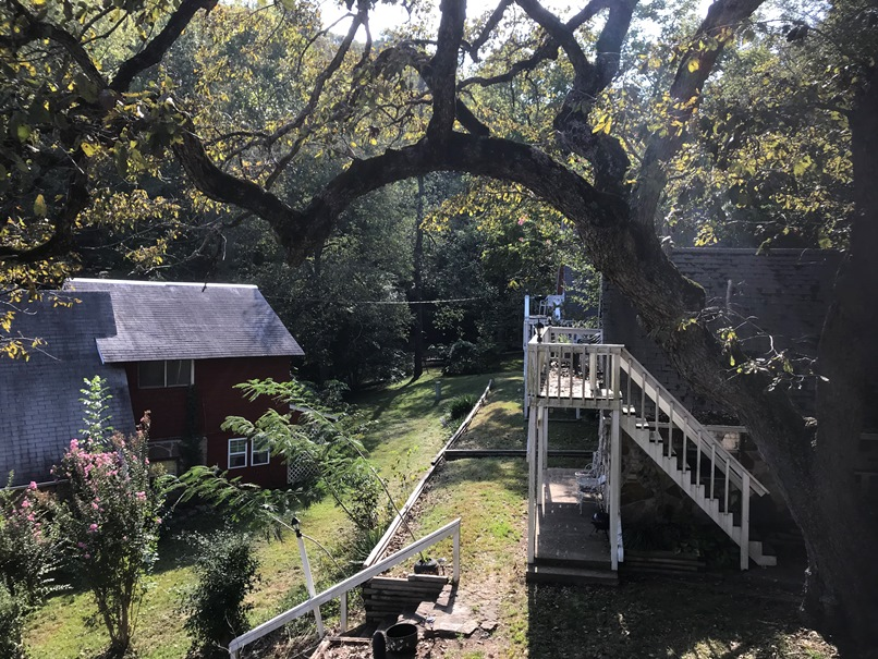 View from balcony of cabin 1